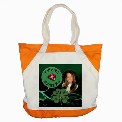 Irish Green Accent Tote Bag By Lil    Accent Tote Bag   Gqi4p1kcoz0b   Www Artscow Com Front