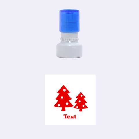 Christmas Tree By Clince   Rubber Stamp Round (small)   Ten9dlynq5dw   Www Artscow Com 1.12 x1.12  Stamp