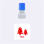 christmas tree - Rubber Stamp Round (Small)