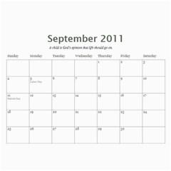 Calendar By Rebecca   Wall Calendar 11  X 8 5  (12 Months)   Nnccjl1rein8   Www Artscow Com Sep 2011