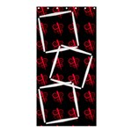 Black and pink - Curtain shower - Shower Curtain 36  x 72  (Stall)