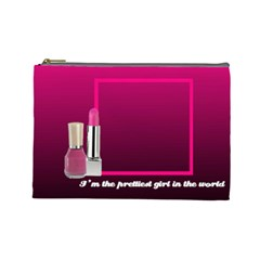 The Pretiest Girl   Cosmetic Bag (medium) By Carmensita   Cosmetic Bag (large)   6jtdc1p09an2   Www Artscow Com Front