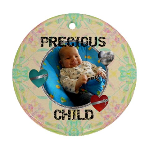 Precious Child Ornament By Lil    Ornament (round)   Plxyj4mq7vlx   Www Artscow Com Front