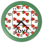 Strawberry - Clock - Color Wall Clock
