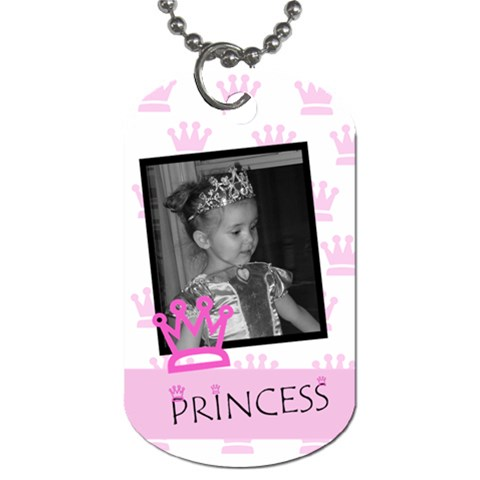 Princess Crown Tag By Amanda Bunn   Dog Tag (one Side)   4imxci70xmy8   Www Artscow Com Front