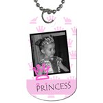 Princess Crown Tag - Dog Tag (One Side)