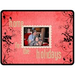 Home for the Holidays extra large Christmas Fleece - Fleece Blanket (Large)