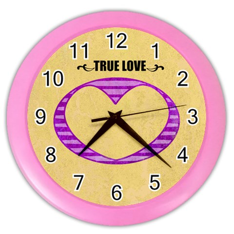 True Love   Clock By Carmensita   Color Wall Clock   P31vautefic8   Www Artscow Com Front