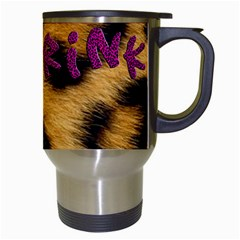 Drink Leopard   Travel Mug By Carmensita   Travel Mug (white)   Stzl9lht8zr8   Www Artscow Com Right