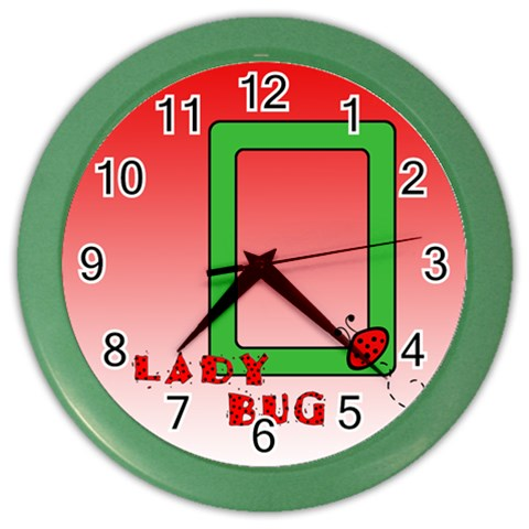Ladybug   Clock By Carmensita   Color Wall Clock   Owxlhnsy2gq6   Www Artscow Com Front