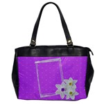 Purple - BAG - Oversize Office Handbag (One Side)