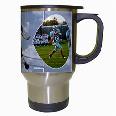 Football Mug By Snackpackgu   Travel Mug (white)   F3vpmoiy1bke   Www Artscow Com Right