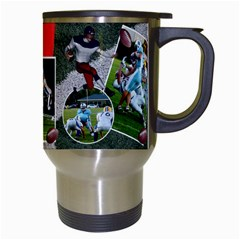 Football Mug2 By Snackpackgu   Travel Mug (white)   Ra5zdt7f8xds   Www Artscow Com Right