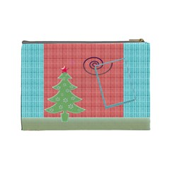 Christmas By Daniela   Cosmetic Bag (large)   Df3yalo7qi77   Www Artscow Com Back
