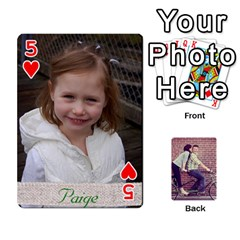 Cards By Jessica   Playing Cards 54 Designs   H4y97ijv0aa2   Www Artscow Com Front - Heart5
