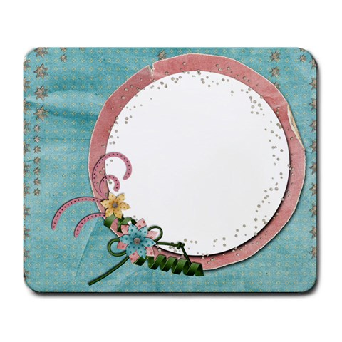 Love/flowers Mousepad By Mikki   Large Mousepad   7puq05z7095x   Www Artscow Com Front