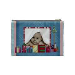 Baby s First Christmas Cosmetic Bag By Catvinnat   Cosmetic Bag (medium)   N0k0bqyprrvk   Www Artscow Com Back