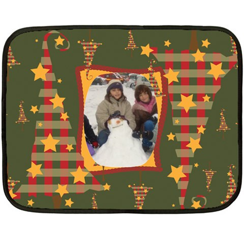 Christmas Stars Fleece Blanket By Katsako   Fleece Blanket (mini)   06btog21p58q   Www Artscow Com 35 x27 Blanket