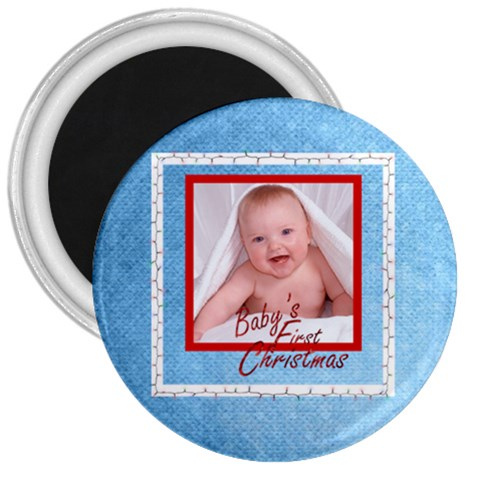 Baby s First Christmas Fridge Magnet By Catvinnat   3  Magnet   Isc9oxnk0ekq   Www Artscow Com Front