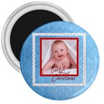Baby s First Christmas Fridge Magnet - 3  Magnet