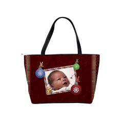 Babys First Christmas Shoulder Handbag By Lil    Classic Shoulder Handbag   Tt5ziqwhb1j6   Www Artscow Com Back