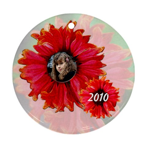 My Garden Ornament By Patricia W   Ornament (round)   9vrpxt3q7jg1   Www Artscow Com Front