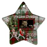 Abby Christmas star plaid - Ornament (Star)