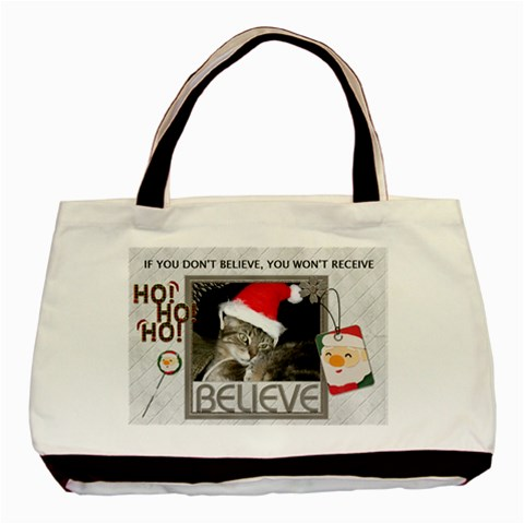 Believe In Santa Classic Tote Bag By Lil    Basic Tote Bag   Rtyql969t3ne   Www Artscow Com Front
