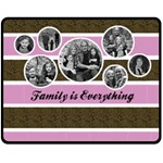 Family is Everything Blanket - Template - Fleece Blanket (Medium)
