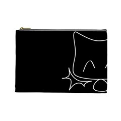Bat Cosmetic Bag By Joyce   Cosmetic Bag (large)   A2rt8njg34yc   Www Artscow Com Front
