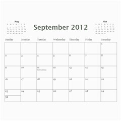 Colorful Calendar 2012 By Galya   Wall Calendar 11  X 8 5  (12 Months)   Iu93m11o9of1   Www Artscow Com Sep 2012