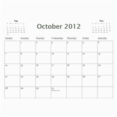 Colorful Calendar 2012 By Galya   Wall Calendar 11  X 8 5  (12 Months)   Iu93m11o9of1   Www Artscow Com Oct 2012