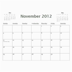Colorful Calendar 2012 By Galya   Wall Calendar 11  X 8 5  (12 Months)   Iu93m11o9of1   Www Artscow Com Nov 2012