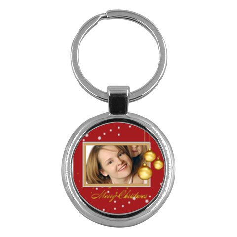 Xmas By Wood Johnson   Key Chain (round)   Vzk4lws3korh   Www Artscow Com Front