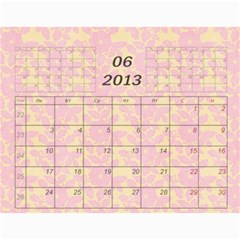 Nature Calendar 2012 By Galya   Wall Calendar 11  X 8 5  (12 Months)   Cd9sguhgwjmt   Www Artscow Com Jun 2012