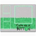 Cute as a button - CANVAS 14 x11  - Canvas 11  x 14