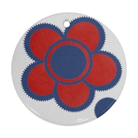 Flower By Daniela   Ornament (round)   U3xayeterpgs   Www Artscow Com Front
