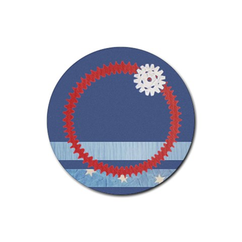 Snowflake By Daniela   Rubber Round Coaster (4 Pack)   F2tkem1jukho   Www Artscow Com Front