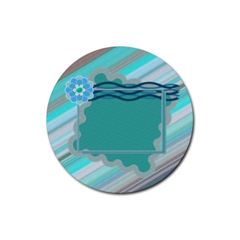 Shapes By Daniela   Rubber Round Coaster (4 Pack)   Y5umw7kwxy3w   Www Artscow Com Front