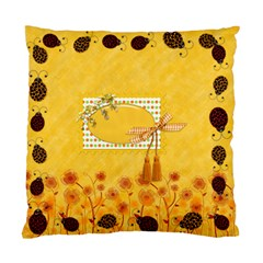 Pillow Miss Ladybugs Garden 1002 By Lisa Minor   Standard Cushion Case (two Sides)   7cz5ty02jikc   Www Artscow Com Back