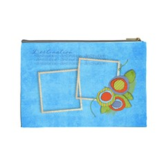 Relax/travel Cosmetic Bag L By Mikki   Cosmetic Bag (large)   W5z56savcec7   Www Artscow Com Back