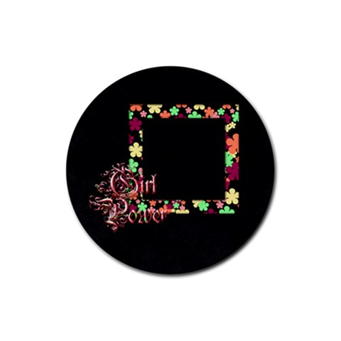 Coaster Girl Power 1002 By Lisa Minor   Rubber Round Coaster (4 Pack)   Pn5eqvtfiaeb   Www Artscow Com Front