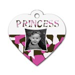 Heart Princess Tag - Dog Tag Heart (One Side)
