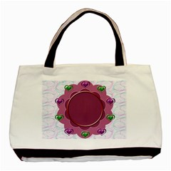 Flower Frame By Daniela   Basic Tote Bag (two Sides)   14goku9zam2s   Www Artscow Com Front