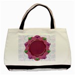 Flower frame - Basic Tote Bag (Two Sides)