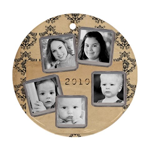 2010 Orn Grandkids By Nancyrsmith   Ornament (round)   8pi5fqv88mme   Www Artscow Com Front
