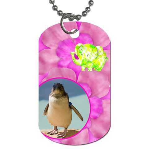 Floral Fun Dog Tag By Joan T   Dog Tag (one Side)   Uocn3oecinst   Www Artscow Com Front
