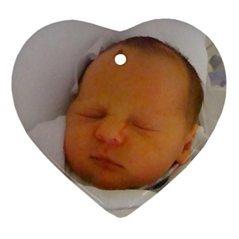 Ccwyatt2 By Koleta Sharp Mitchell   Ornament (heart)   Yvmy4egnv96o   Www Artscow Com Front