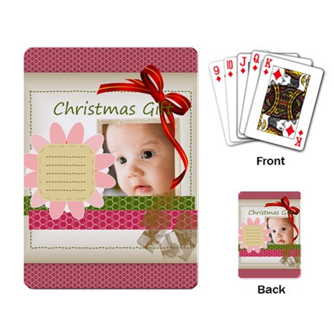 Christmas By Joely   Playing Cards Single Design   I2tydysq6lol   Www Artscow Com Back