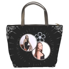 Black Splash Bucket Bag By Lil    Bucket Bag   Ysiq1b1uduxd   Www Artscow Com Back